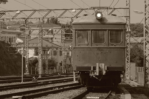 2015.10.4 神戸電鉄鈴蘭台車庫 デ101号入替動車3.JPG