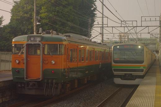 2015.8.3 東北本線 石橋  115系とE231系1.JPG