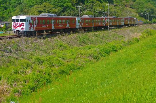 2017.5.4 山陽本線 熊山-和気 カープ列車2017年1.JPG